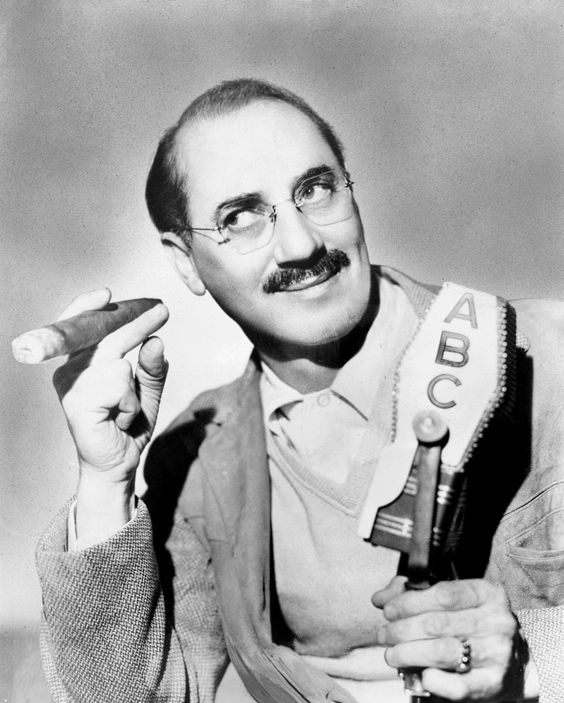 """""""One morning I shot an elephant in my pajamas. How he got in my pajamas I'll never know."""" - Groucho Marx"""