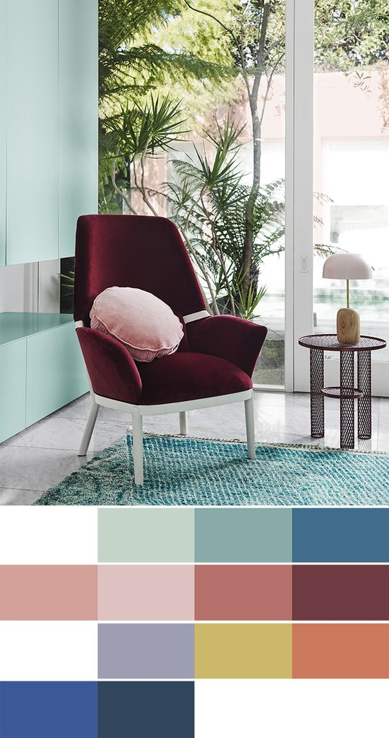 2018 interiors colour trends - Escapade palette