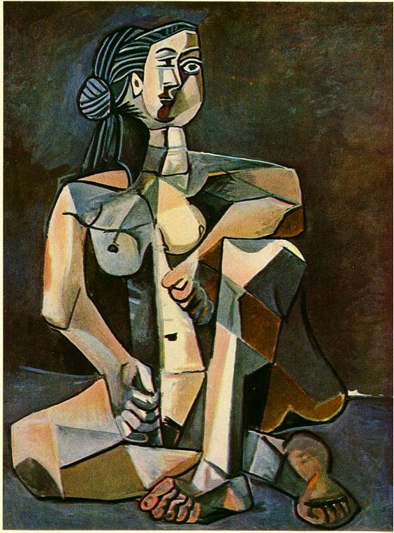 The painting is Cubism, it seems the artist looked though a pair of broken glasses when painting this artwork: