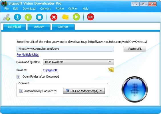 Bigasoft Video Downloader Pro Preview