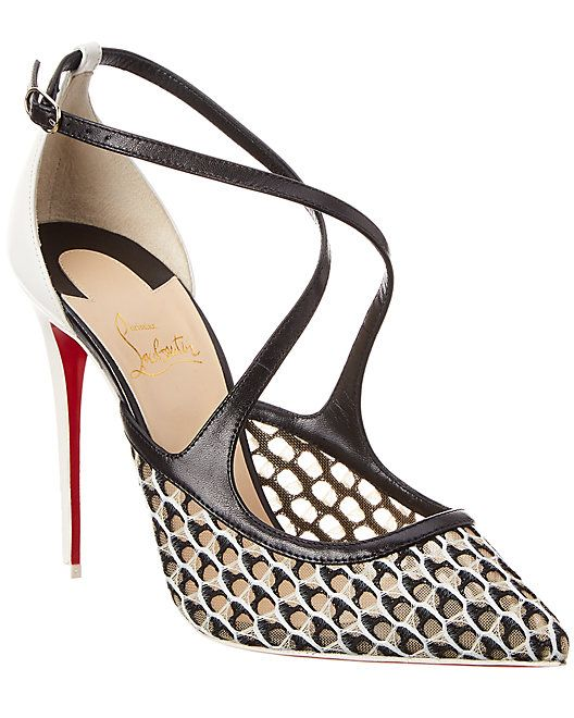 finest selection f37b1 45a8e Christian Louboutin Twistissima 100 Leather Pump ...