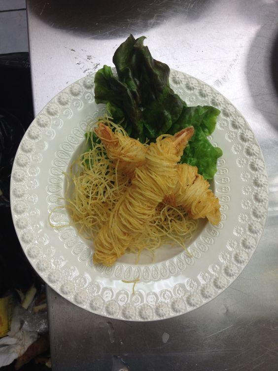 Shrimp potato wrap