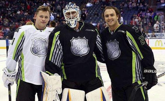 Team St. Louis at the All Stars Game!! Vladi, Brian, & Kevin