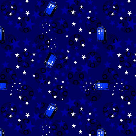 Dr. Who fabric.  Very cool selection of prints but pricey at 90 bucks for 5 yds.