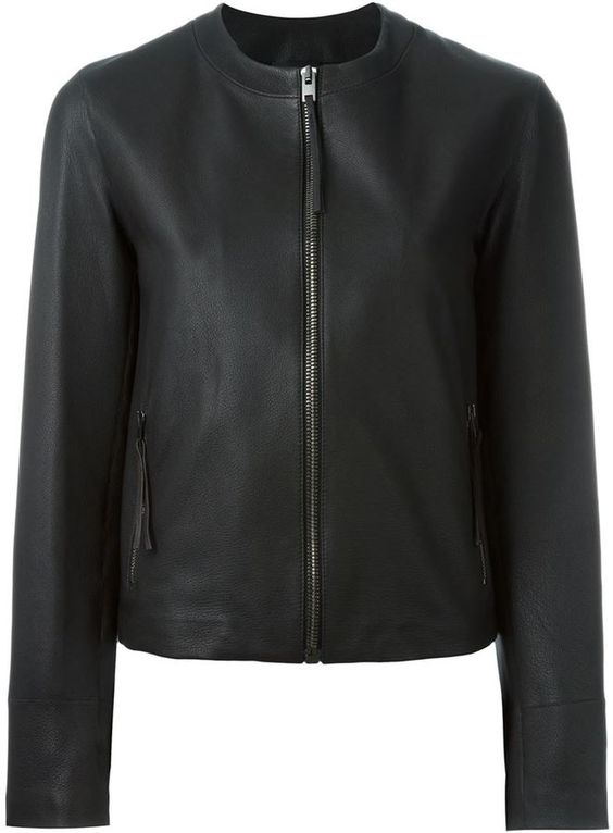 Joseph collarless zip jacket