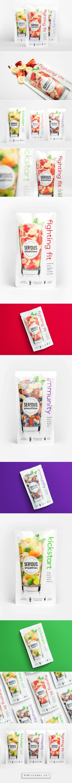 SER!OUS Smoothies Mix packaging design by Curious Design NZ (NewZ ealand) - http://www.packagingoftheworld.com/2016/09/serous-smoothies.html