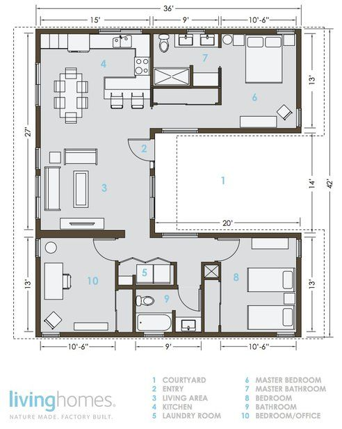 LivingHomes and Make It Right Introduce Affordable Green Prefab    Lay out of an eco friendly home