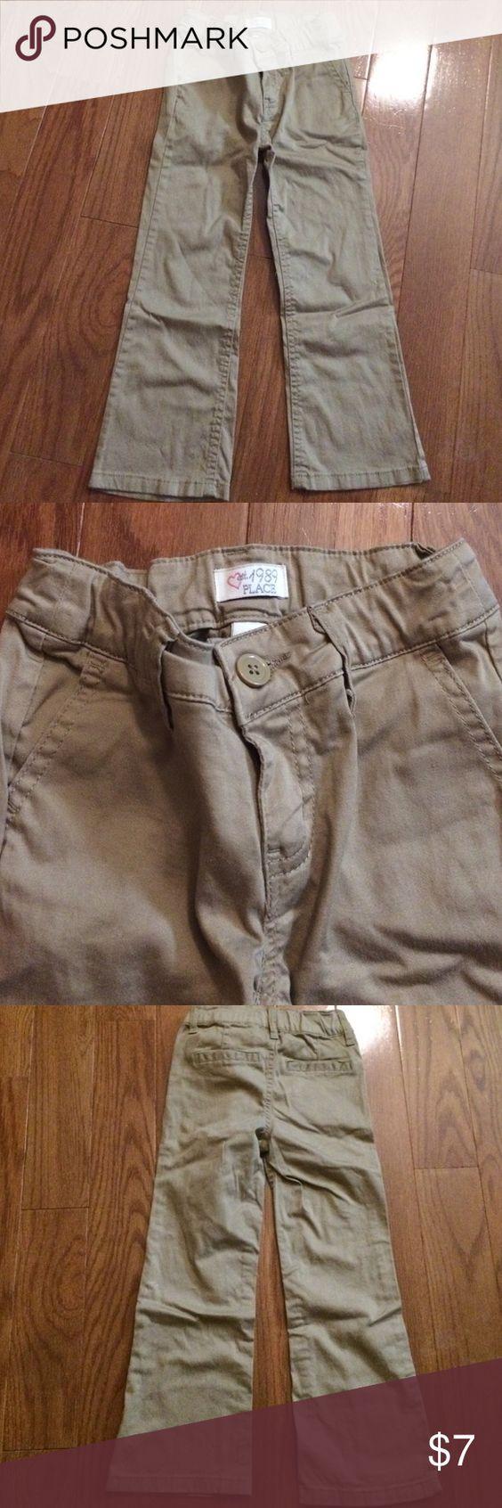 Khaki pants Khakis. Adjustable waistband. Worn 1x. Great for a school uniform. Children's Place Bottoms Casual