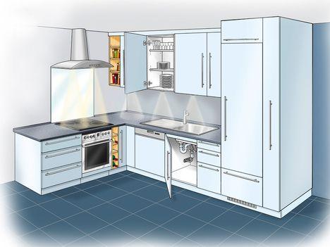 kuìˆche-titel_0jpg (468×351) Konyha (Small Kitchen) Pinterest - kleine küche l-form