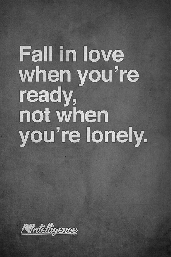 Fall In Love When You're Ready
