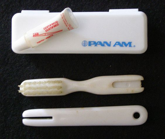 Pan Am Travel Toothbrush & Case Collectible by heritagetrade, $4.95