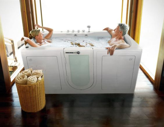 Benefits of Bathing With Your Partner in a Two-Seat Walk-In Bathtub from Ella's Bubbles