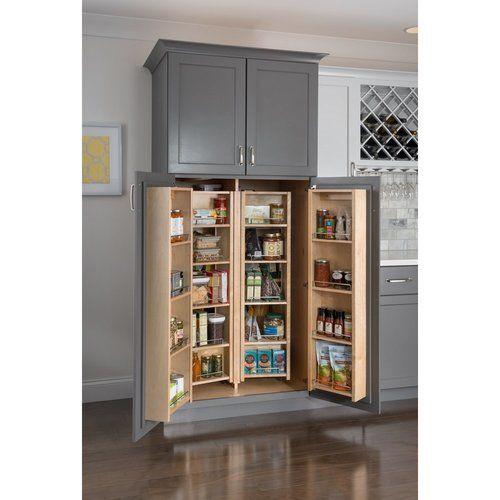 Hardware Resources 12 Inch Width Pantry Door Mount Cabinet