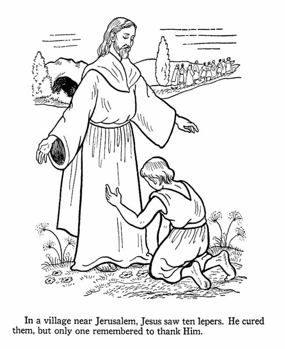 jesus heals a leper coloring page - jesus heals the 10 lepers sunday school ideas