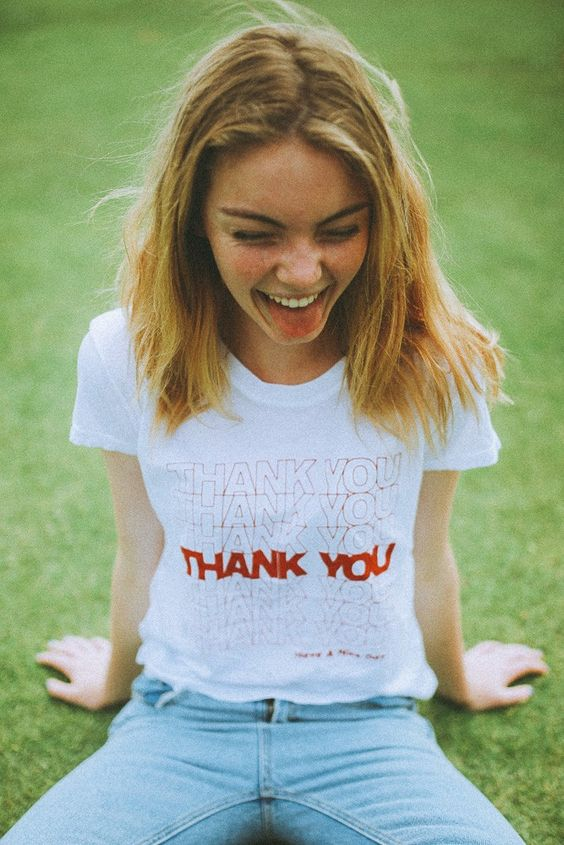 Brandy ♥ Melville | Margie Thank You Top - Graphics