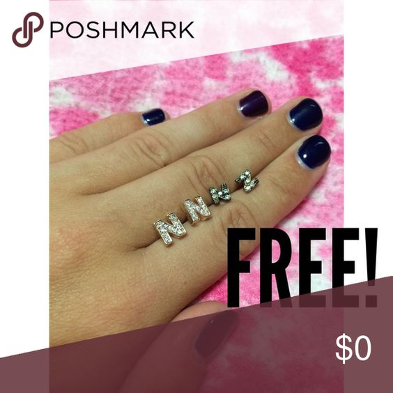 FREE Letter N Earrings Free with any purchase, my name is - letter to purchase