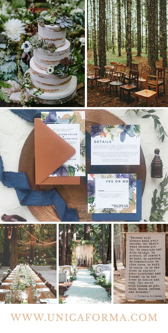 Forest Wedding Navy And Rust Wedding Copper And Navy Wedding