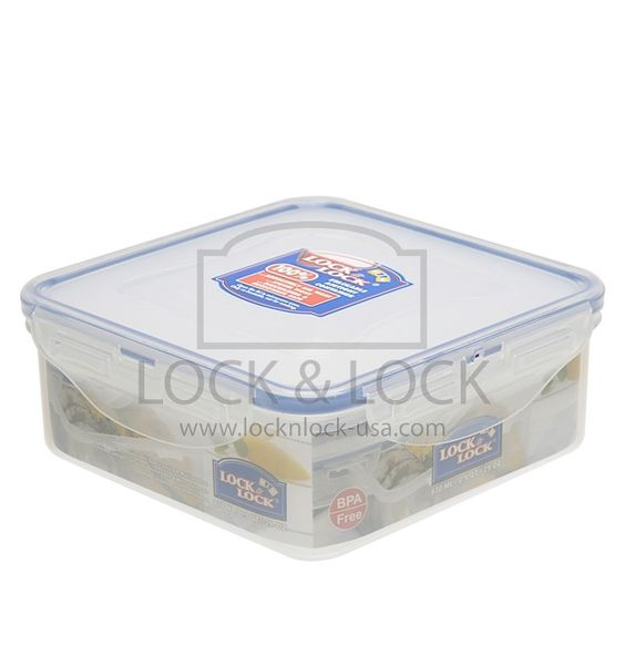 SQUARE SHORT FOOD CONTAINER 3.6-CUPS - Lock & Lock USA Distributor, Inc; HPL823