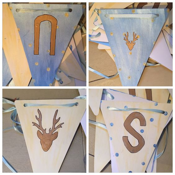 Bunting for my beautiful boy  simple, easy and fun.