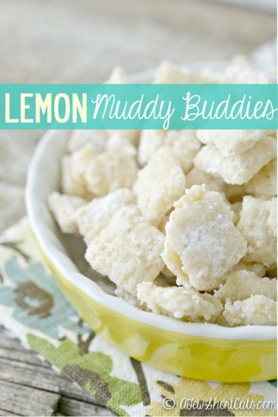 A zesty twist on a favorite. Check out this delicious Lemon Muddy Buddies Recipe, plus its gluten free.: