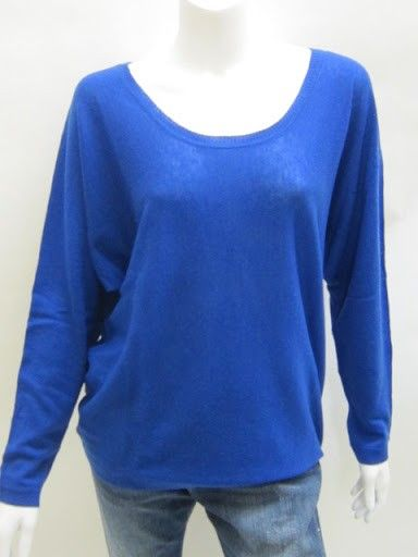 New Feel The Piece Fame Cashmere Sweater in Cobalt. A fun color to bring into the holidays and through spring!   www.Chelseabella.com