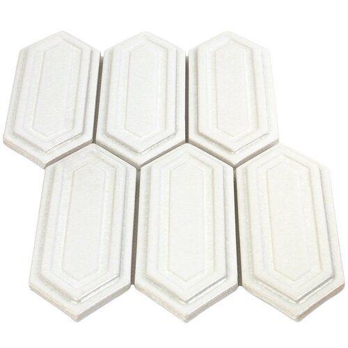 Oracle Alula Ceramic Mosaic Tile In Glacier White Ceramic Mosaic Tile White Ceramic Tiles Ceramic Tiles