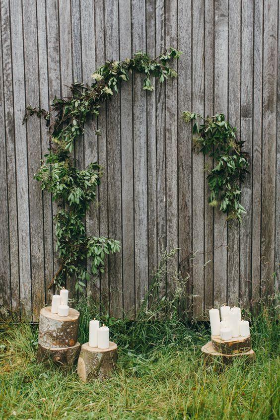 autumn wedding inspiration in ireland rustic wood ceremony