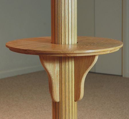 Basement pole tables i posted this because my family once for Table column