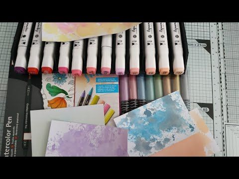 Tests Feutres Aquarelle Action Vs Lidl Youtube Feutre