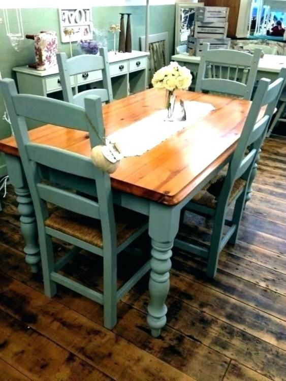 Ideas For Painting Kitchen Tables And Chairs Painted Kitchen Tables Wooden Kitchen Table Painted Dining Table