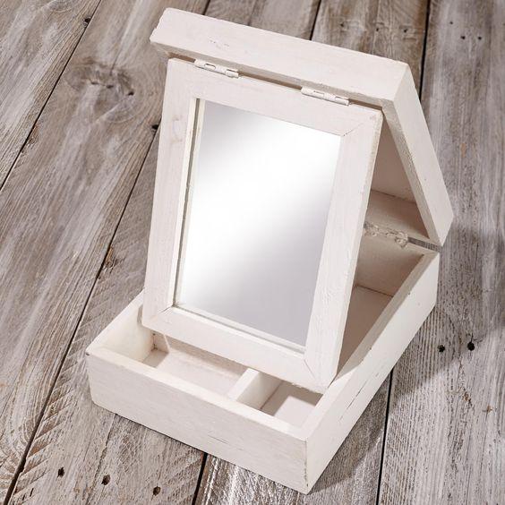 Schöner Schmuck soll auch schön  aufbewahrt werden :) BB Schmuckbox perfekt inkl. Spiegel.