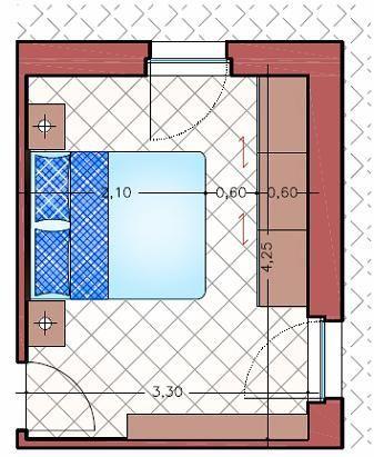 Minimas dimensiones para dormitorios matrimoniales for Closet para cuartos matrimoniales