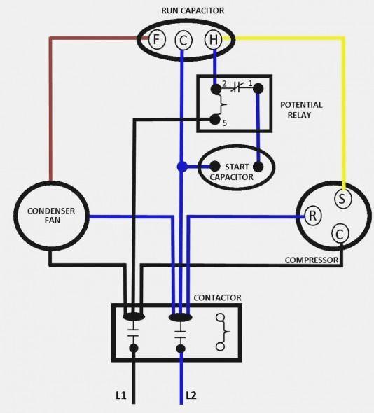 ac dual capacitor wiring diagram  ac capacitor compressor