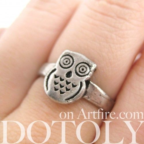 $10 Owl Be Yours if Youll Be Mine - Owl Animal Ring in Sizes 4.5 to 6.5