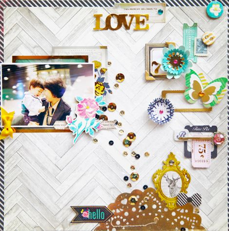 #papercraft #scrapbook #layout Jina Jean for Crate.....
