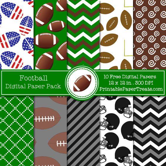Free Football Digital Papers Pack