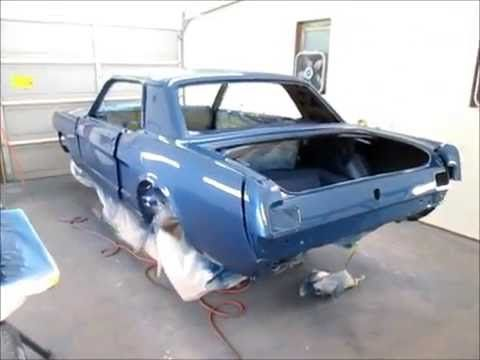 1965 Mustang Paint And Clear Coat Mystique Part 21 Youtube In 2020 Mustang 1965 Mustang Auto Body