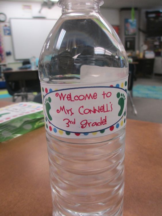 Personalized water bottle labels classroom setup and personalized water bottles on pinterest for Personalized water bottle label template