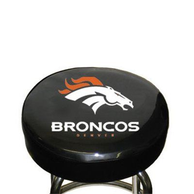 Denver Broncos Black Team Logo Bar Stool Cover Bar Stool