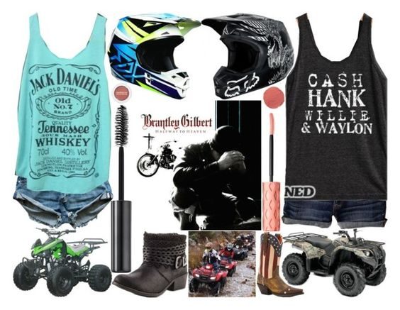 """""""kick it in the sticks"""" by silent-killer ❤ liked on Polyvore featuring Urban Decay, American Eagle Outfitters, Dan Post, TigerBear Republik, Benefit, Bare Escentuals and Ilia"""