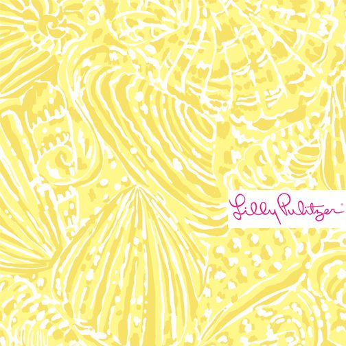 lilly pulitzer sunglow yellow seacups printed