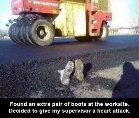 Found an extra pair of boots...: