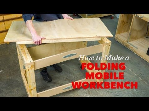 How To Make A Folding Mobile Workbench Youtube With Images
