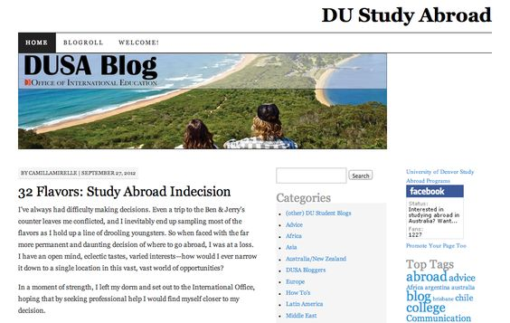 The official blog for The University of Denver Office of International Education