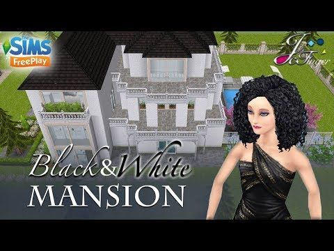 The Sims Freeplay Black And White Mansion By Joy Youtube Sims White Mansion Sims House