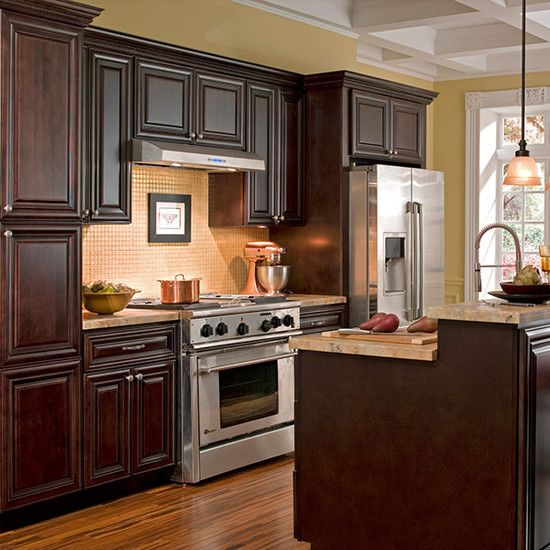 Palm Beach Dark Chocolate Cabinet Sample Kitchen Cabinets Wallpaper For Kitchen Cabinets Cabinets To Go