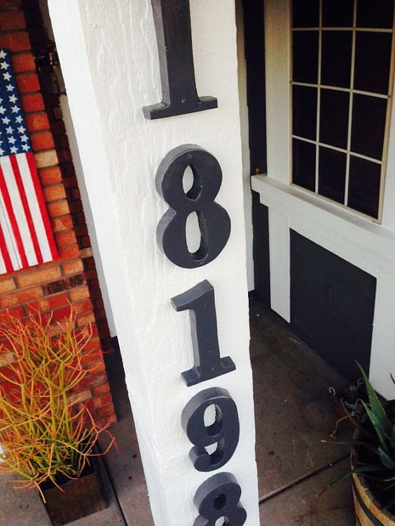 Fun Wooded House Numbers by nidification on Etsy