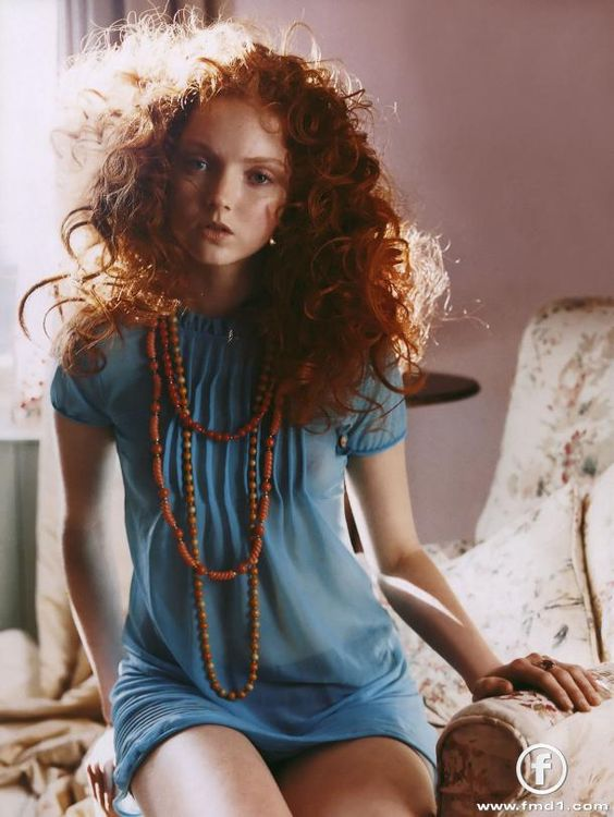 Lily Cole. I wish I could get away with this hairdo.