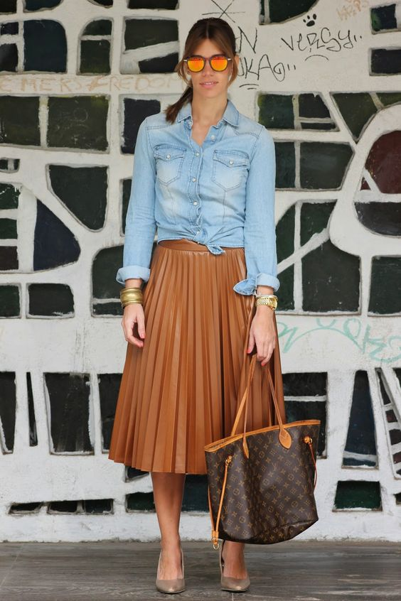 Miss trendy Barcelona: Pleated Skirt
