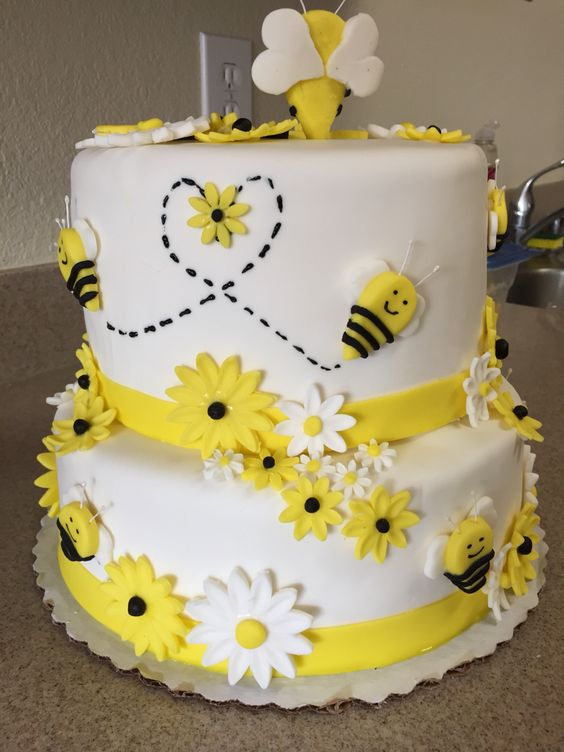 bumble bee themed baby shower cake cakes pinterest bumble bees